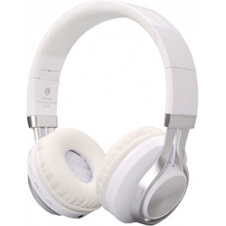 HEADPHONES BT-01-WH OVER-EAR BLUETOOTH WHITE-SILVER CRYSTAL AUDIO